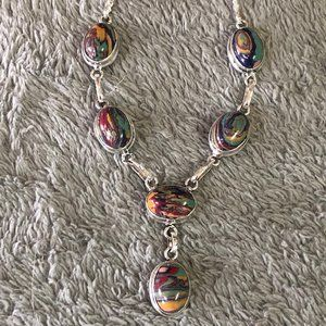 Jewelry - Mosaic Jasper Necklace and Choice of Earrings
